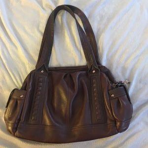 B Makowsky Brown Leather Purse